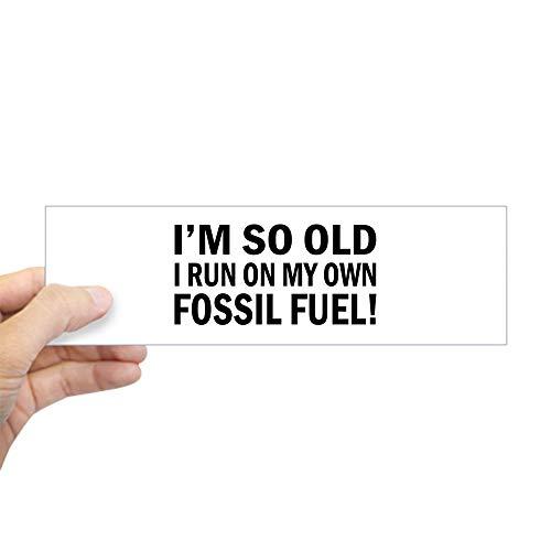 """CafePress Old Age Humor Bumper Sticker 10""""x3"""" Rectangle Bump"""