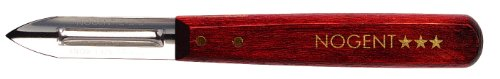 - Nogent Classic Double-Edge Vegetable Peeler, Dark Wood Handle