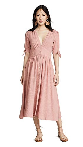 Free People Women's Love of My Life Dress, Rose, Pink, Large