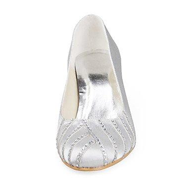 Silver Cirior Wedding Aimee Women's Satin Pumps qXwz7Bn6X