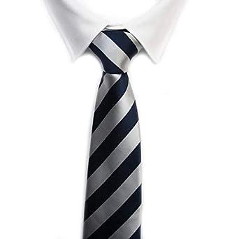 VIZENZO corbatas rayas plata: Amazon.es: Ropa y accesorios