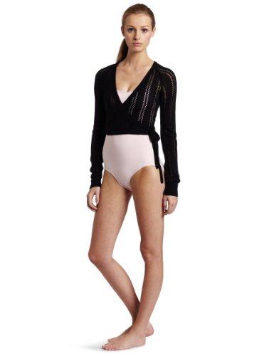 Raglan Wrap - Danskin Women's Raglan Sweater wrap, Black, Small