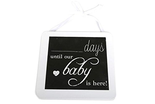 .... Days Until Our Baby Is Here Hanging Chalkboard Plaque - Pregnancy Gift