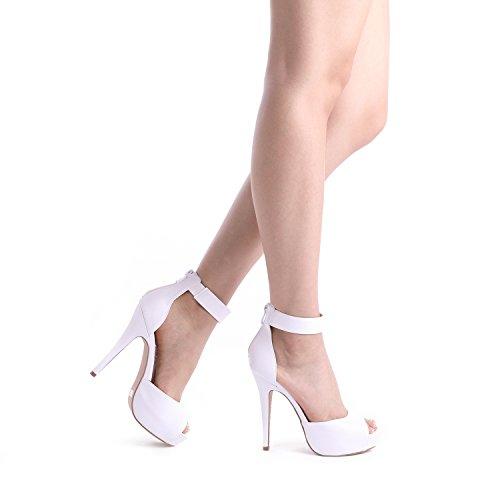 Alto Pattini Di Donne Bianco Plaform Vestito Paia Delle Tacco Della Elaborazione Pompa I Dell'unità Sognare Cigno Tw54q0T
