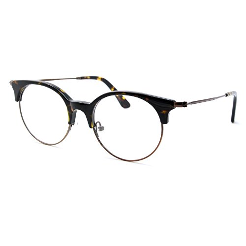 TIJN Women Cateye Eyeglasses Frame Semi-rimless - Perscription Cheap Sunglasses
