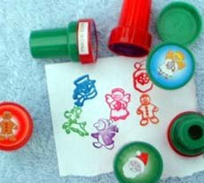 Christmas Pencil Tops Stampers (24/PKG) by TC