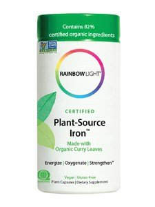 Rainbow Light Certified Organics Plant-Source Iron V-Caps, 50 Count