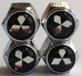 Mitsubishi Logo Regular Tire Valve Stem Caps set of 4