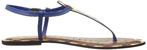 Gigi Edelman 1 Sandal 5 Sam lackiertes Blau Leder Damen qCwHdE4E