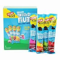 Clif Kid Organic Twisted Fruit Real Fruit Rope - 24 Pieces Variety Pack