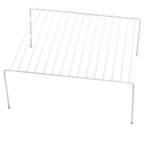 Ybm Home Wire Cabinet Helper Shelf Organizer, White 2555 (1, 16 in. L x 9.75 in. W x 5.5 in. H)