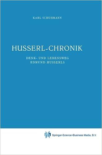 Téléchargement de livres audio sur l'iphone 5 Husserl-Chronik: Denk- und Lebensweg Edmund Husserls (Husserliana: Edmund Husserl - Dokumente) (Volume 1) in French PDF 9048182557