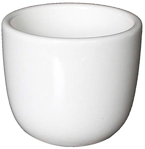 (Restaurant Cameo Ceramic Teacups with Scraper, White Ivory (6 Pack, 4.5 Ounce))