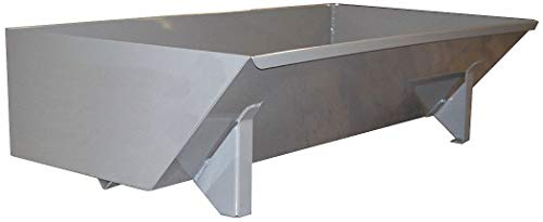 (Gray Self-Dumping Hopper, 13.5 cu. ft, 4000 lb. Load Cap, 17