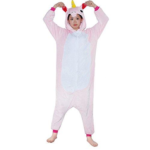 Unicorn Onesie Adult – Feelme Unisex Onesies Pajamas Kigurumi Cosplay Sleepsuit Costume Animal (Cute Halloween Costumes For Girl Couples)