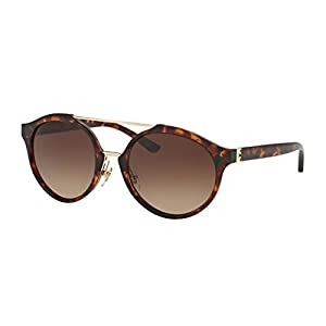 Tory Burch Women's 0TY9048 Dark Tortoise/Dark Brown Gradient Sunglasses