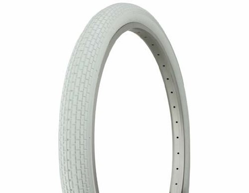 Retro White Wall Tire (PAIR of Duro 26 x 2.125 White/White Side Wall HF-120A. Bicycle tire, bike tire, beach cruiser bike tire, cruiser bike tire, chopper bike tire, trike tire, tricycle tire)
