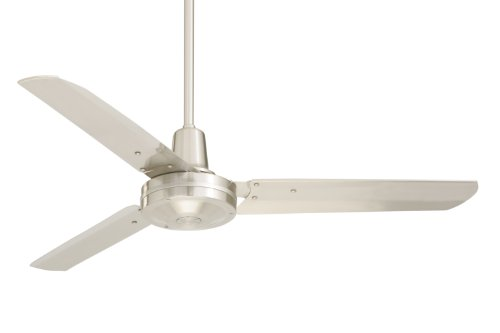 Emerson Ceiling Fans HF948BS industrial Fan, Indoor Ceiling Fan With 48-Inch Blades, Brushed Steel Finish ()