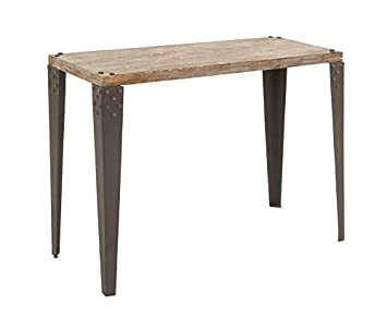 Deco 79 Metal Wood Console Table, 42 X 16 X 30 Inch, Brown