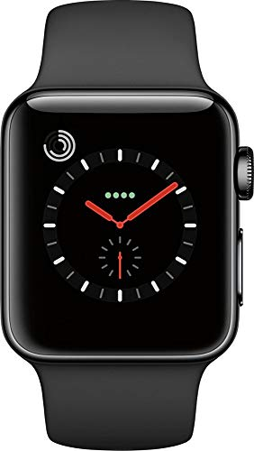 Apple Watch Series 3 38mm Space Black Stainless Steel Milanese Loop MR1H2LL/A (Renewed)