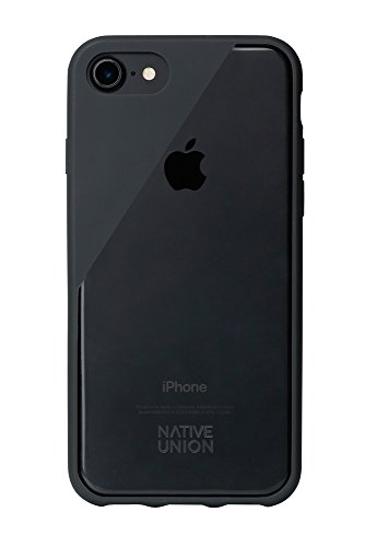 Native Union CLIC Crystal Case for iPhone 7, iPhone 8 - Transparent Clear Drop-Proof Cover with Screen Bumper Protection (Smoke)