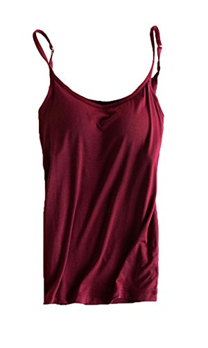 fc9ba5cdd3b23 Jual Womens Modal Built-in Bra Padded Active Strap Camisole Tanks ...