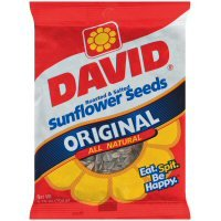 David Original Roasted & Salted Sunflower Seeds in Shell (Case Count: 12 per case) (Case Contains: 60 OZ)
