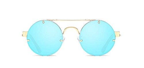 lunettes Bleu en Glacier métallique du soleil inspirées cercle Lennon rond retro style de polarisées vintage RxrRq