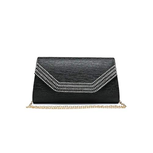 LeahWard Women's New Evening Diamante Party Clutch Bag For Women Wedding Prom 1704 Black 449