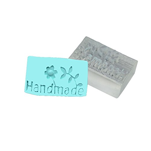 Lychee Craft Handmade with Flower Pattern Soap Stamp Seal Making Mould Resin DIY Handcraft
