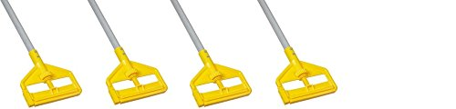 Rubbermaid Commercial Invader Side Gate Wet Mop Handle, 54-Inch, FGH145000000 (4 mop handles) by Rubbermaid Commercial Products