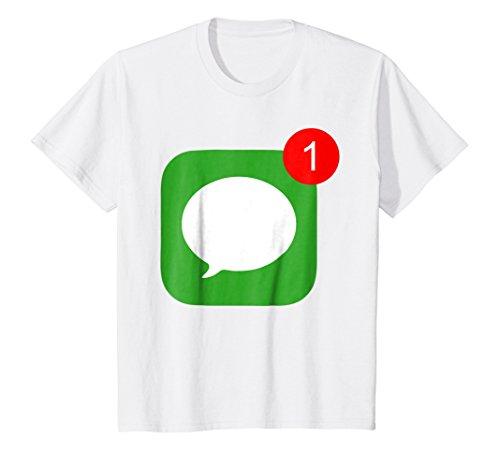 Price comparison product image Kids 1 Unread Message (Phone Icon) T-Shirt 12 White