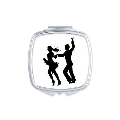 DIYthinker Bailarina duo Dance Performance Cuadrado del Arte Espejo de Maquillaje Compacto portatil de Mano Linda de Bolsillo Regalo Espejos