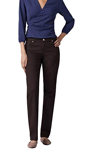 (LEE Women's Stretch Relaxed Fit Straight Leg Jean, Mahogany - 20 Short)