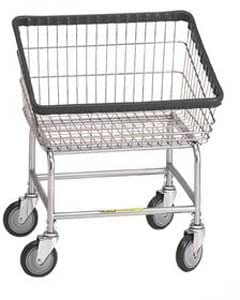 Large Capacity Front Load Laundry Cart, basket color: Chrome