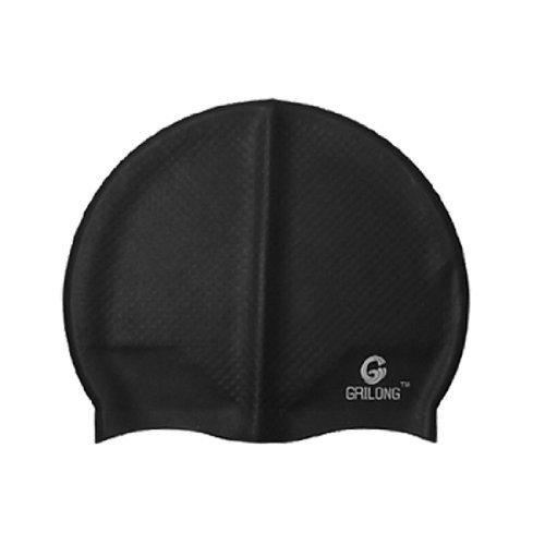 eDealMax シリコン ユニセックス アンチシボロ フレッシャー アクアティック スポーツ トレーニング nuoto 帽子 キャップ ブラック B07GQ2BN81
