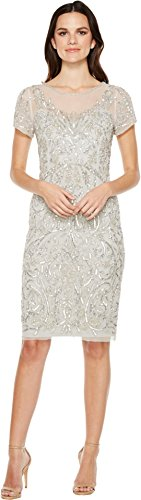 Buy adrianna papell silver dresses - 8