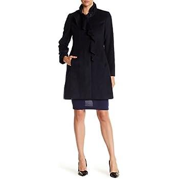 2ddf0787498da Amazon.com  DKNY Faux-Fur-Trim Asymmetrical Walker Coat