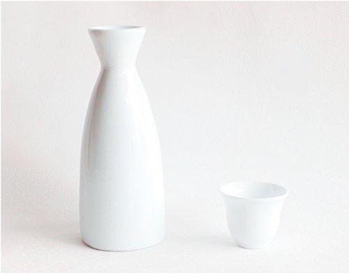 Moyishi Japanese Style Sake Set - WHITE 1 Sake Pot and 4 Cups by Moyishi