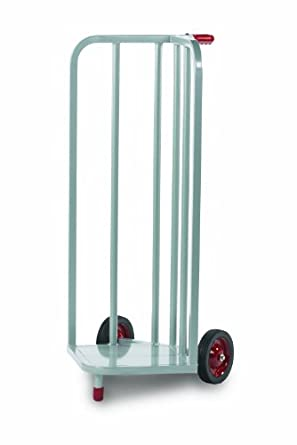 "Raymond Steel V-Shaped Book Cart with Skid Resistant Rubber Wheels, 44"" Height, 21-1/4"" Width"