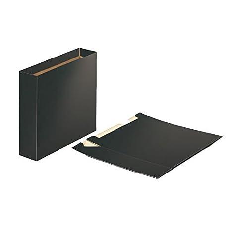 Esselte, Cajetín de cartón para archivadores, Tamaño folio, Negro, 624149: Amazon.es: Oficina y papelería