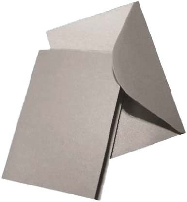 A5 Silver Pearlescent Card Blanks /& Silver Envelopes