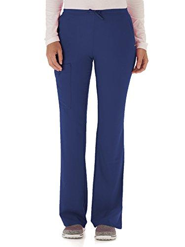 Medium New Scrubs Uniforms - Classic Fit Collection by Jockey Women's Tri Blend Zipper Scrub Pants Medium Tall New Navy