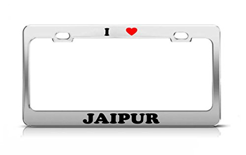 I HEART JAIPUR India Metal Auto License Plate Frame Tag Holder