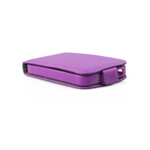 """Handy Flip Case lila mit integrierter Silikonhülle für """"Apple Iphone 7 Plus 5.5"""" Schutz Hülle Tasche Schale Etui Cover"""