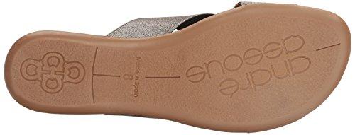 Andre Assous Women's Nani Flat Sandal Pewter sEiqwUejgp