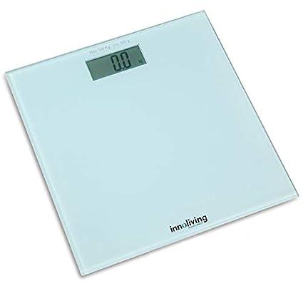 INNOFIT INN-107 Báscula personal electrónica Plaza Blanco - Báscula de baño (Báscula personal
