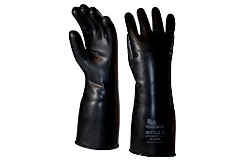 Guardian CP-14 Butyl Coated Smooth Finish Short Glove 14 Mil Size Medium (1 (Coated Smooth Finish)