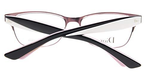 NEW Christian Dior CD3782 NHW BLACK WHITE PINK EYEGLASSES 54-16-145 B35.5 ()