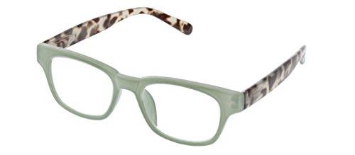 Peepers Women's Vintage Vibes - Green/Gray Tortoise 2512125 Wayfarer Reading Glasses, Green & Gray Tortoise, 1.25